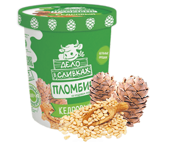 Дело в сливках пломбир на кедровом молочке с кедровыми орешками в картонном ведре