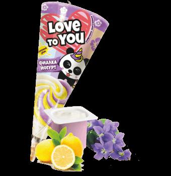 сливочное мороженое фиалка-йогурт с лимонным джемом в сахарном рожке