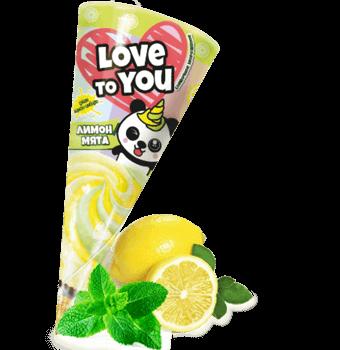 сливочное мороженое лимон-мята с лимонно-имбирным джемом в сахарном рожке