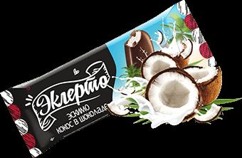 Эклерто Кокос эскимо кокосовое с кокосовой стружкой в молочном шоколаде