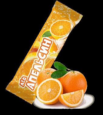 Лёд винт со вкусом апельсина