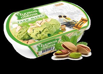 фисташковое мороженое с миндалем