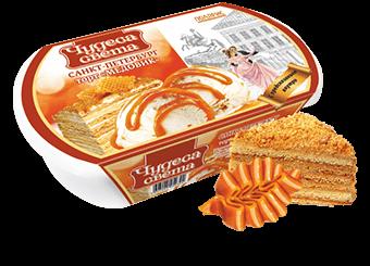 ванильное мороженое с кусочками медового бисквита и варёной сгущенкой