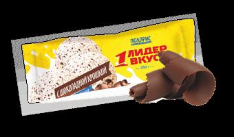 ванильное мороженое с шоколадной крошкой