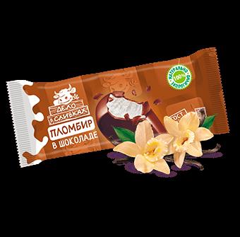 пломбир ванильный эскимо в молочно-шоколадной глазури